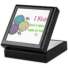 I Knit Keepsake Box