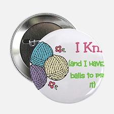 "I Knit 2.25"" Button"