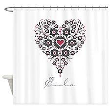 Love Eula Shower Curtain