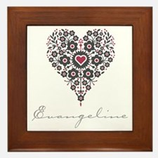 Love Evangeline Framed Tile