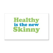 Healthy is the new Skinny Rectangle Car Magnet