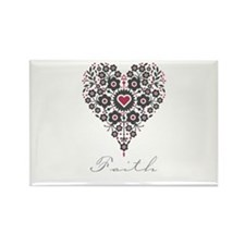 Love Faith Rectangle Magnet