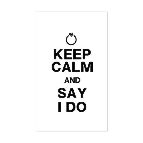 Keep Calm Say I Do Sticker