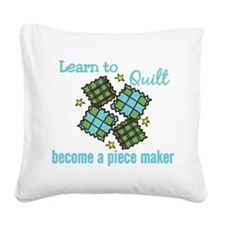Learn to Quilt Square Canvas Pillow