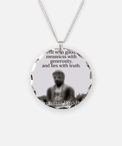 Conquer Anger With Love - Buddha Necklace