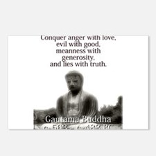 Conquer Anger With Love - Buddha Postcards (Packag