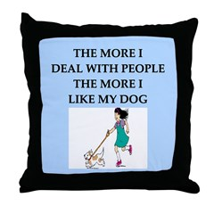 like my dog Throw Pillow