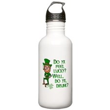 Funny Tough Lucky Drunk Leprechaun Water Bottle
