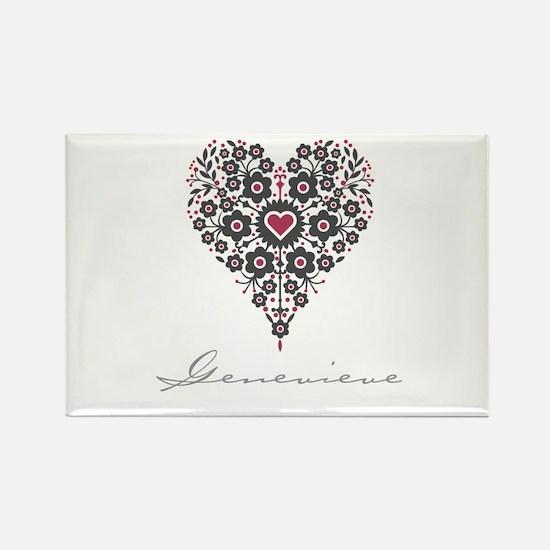 Love Genevieve Rectangle Magnet