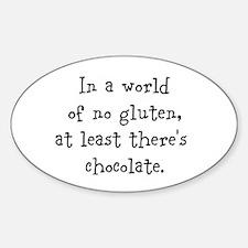 World of no gluten Sticker (Oval)