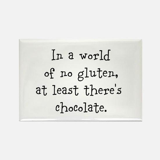 World of no gluten Rectangle Magnet