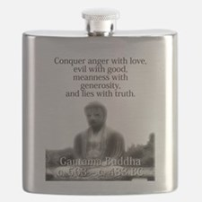 Conquer Anger With Love - Buddha Flask