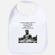 Conquer Anger With Love - Buddha Baby Bib