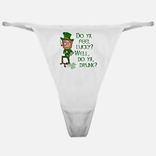 Funny Tough Lucky Drunk Leprechaun Classic Thong