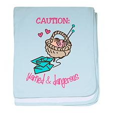 Yarned & Dangerous baby blanket