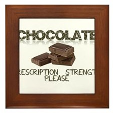 Chocolate Prescription Strength Please Framed Tile