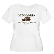 Chocolate Prescription Strength Please Plus Size T