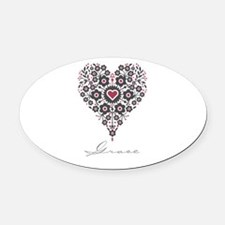 Love Grace Oval Car Magnet