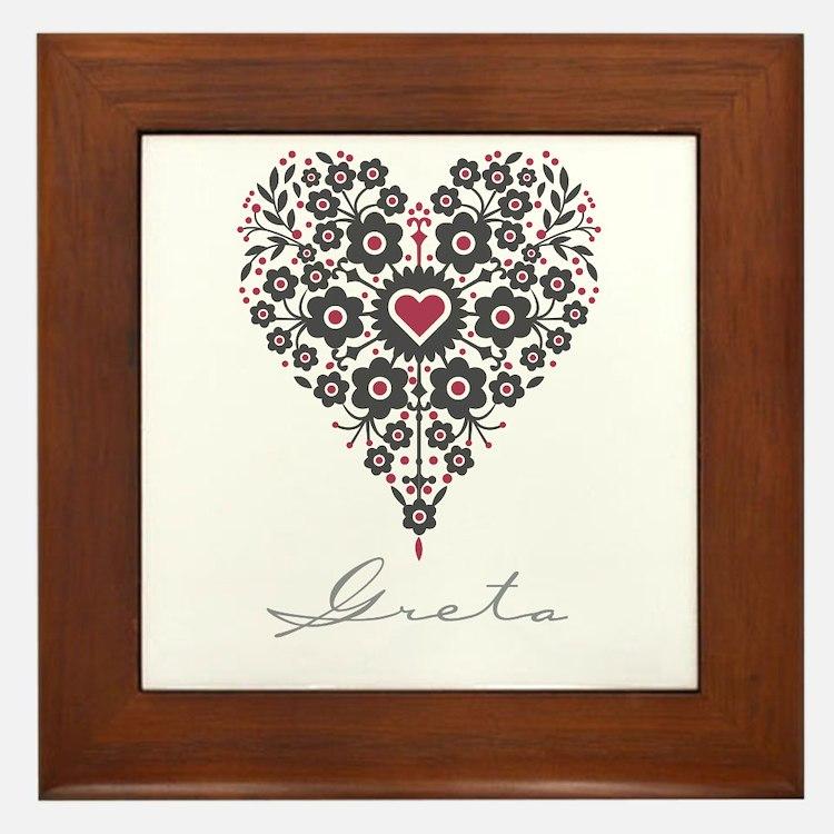 Love Greta Framed Tile