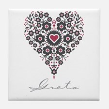 Love Greta Tile Coaster