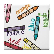 Colors Tile Coaster