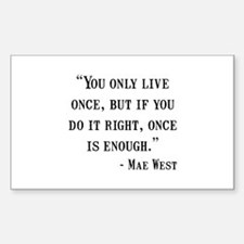 Mae West Quote Decal