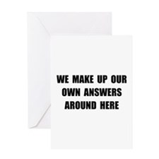 Make Up Answers Greeting Card