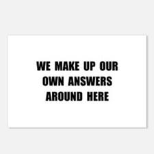 Make Up Answers Postcards (Package of 8)