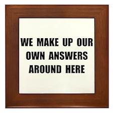 Make Up Answers Framed Tile
