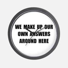 Make Up Answers Wall Clock