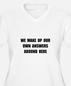 Make Up Answers Plus Size T-Shirt