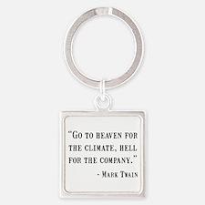 Mark Twain Quote Square Keychain