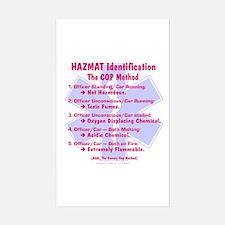 Hazmat ID - Cop Method Rectangle Decal