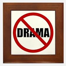 No Drama Framed Tile