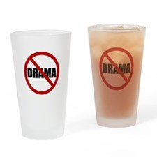No Drama Drinking Glass
