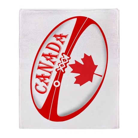 Canadian Rugby Ball Throw Blanket