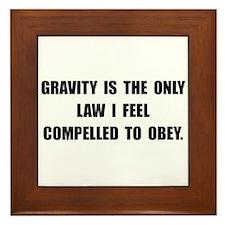 Obey Gravity Framed Tile