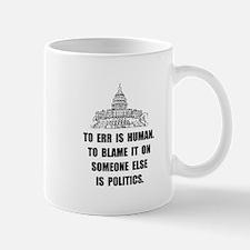 Politics Blame Mug