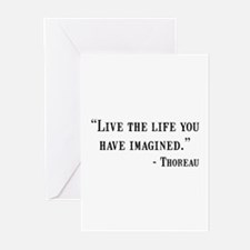 Thoreau Quote Greeting Cards (Pk of 20)