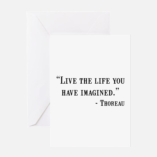 Thoreau Quote Greeting Card
