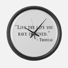Thoreau Quote Large Wall Clock