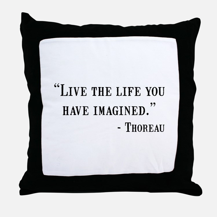 Thoreau Quote Throw Pillow
