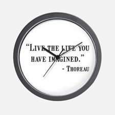 Thoreau Quote Wall Clock