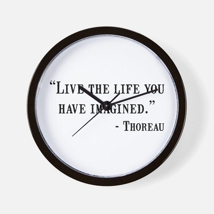 Thoreau Quote Wall Clock