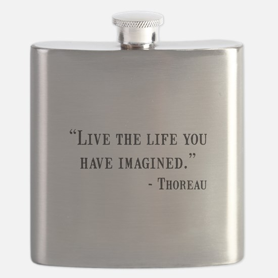 Thoreau Quote Flask