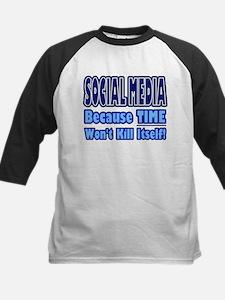 Social Media Kill Time Baseball Jersey