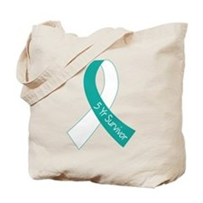 Cervical Cancer 5 Year Survivor Tote Bag