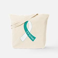 Cervical Cancer 5 Year Survivor Tote Bag