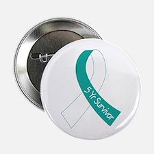 "Cervical Cancer 5 Year Survivor 2.25"" Button"
