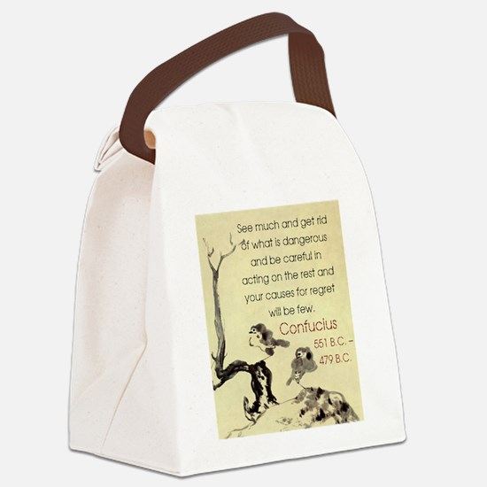 See Much And Get Rid Of - Confucius Canvas Lunch B